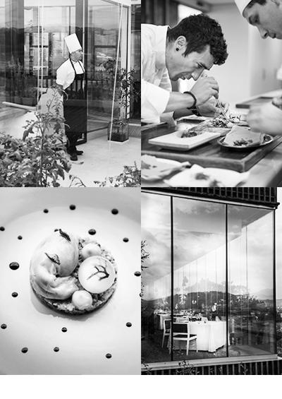 Maart 2016<br>Bouillon Magazine<br><br>Binnenkort in de 50ste jubileum uitgave van Bouillon een reportage over culinair Baskenland  met veel aandacht voor het drie sterren restaurant van Eneko Axta.  Net buiten Bilbao ligt het restaurant dat modern oogt en ook een kantoor van  een architect zou kunnen zijn. Binnen een rustige aankleding met een uitzicht over glooiende  heuvels. Eén van de meest bijzondere combinaties die ik ooit heb geproefd: suikerspin met asperge  poeder. Voor liefhebbers van culinaire kunstwerken op bord een aanrader.