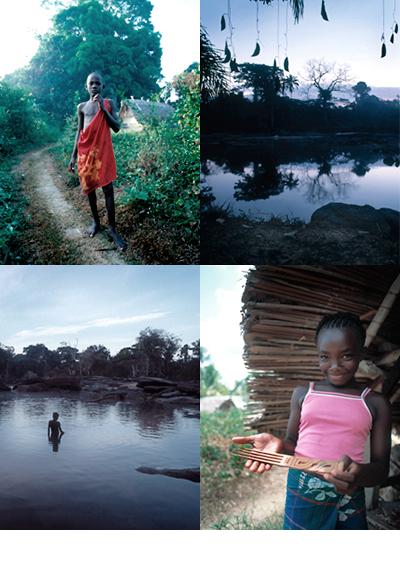 December 2002<br>Villa d'Arte - Suriname<br><br>Samen met Andra Laarhuis door de binnenlanden van Suriname voor Villa d'Arte, een geweldig avontuur. Buiten slapen onder een sterrenhemel op het dak van onze boot; met jongens gewapend met pijl en boog en duikbril op jacht naar vissen; in het donker met enorme snelheid in een korjaal over kleine rivieren. In mijn keuken staat een pijl en boog die ik heb meegenomen uit Suriname. Een mooi tastbaar souvenir naast m'n geweldige herinneringen.